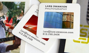 Photographer Turns Photo Slide Film Into Business Cards