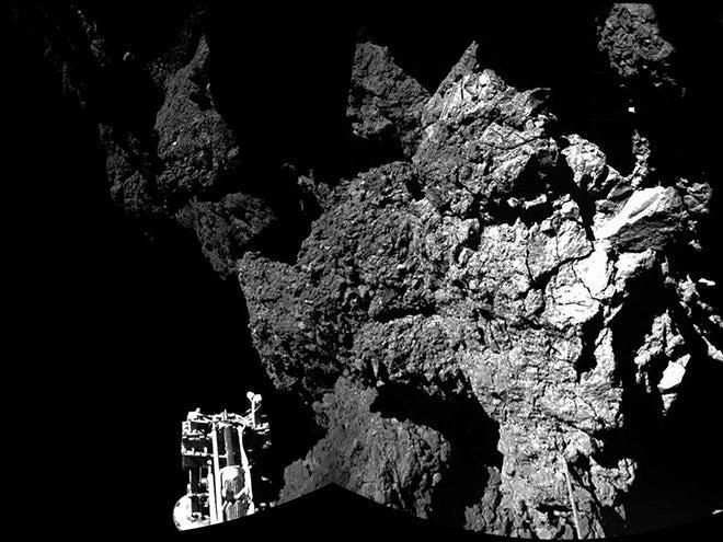 philae landed on comet