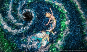 Photographer Benjamin Von Wong's Elaborate Mermaid Photos Shine a Light On The Problems With Plastic