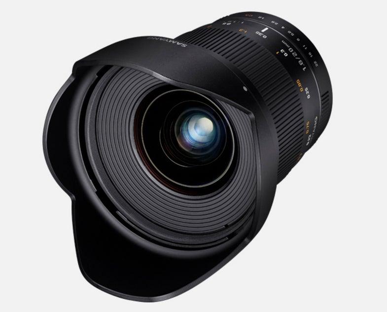 Samyang Rokinon 20mm f/1.8 Lens