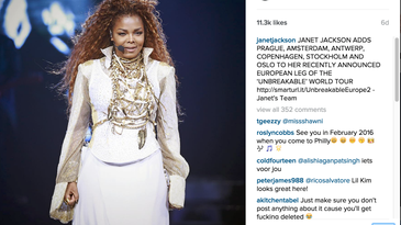 Janet Jackson Concert videos get users banned from Instagram