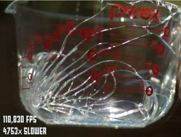 Super Slow Motion Glass Breaking Footage
