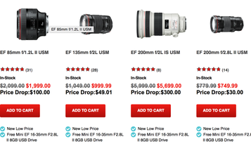 Canon Drops Prices on a Bunch of High-End L-Series Lenses