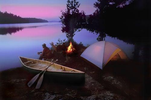 """Landscapes-After-Dark-Camping-at-sunset"""