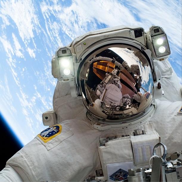 Astronaut Mike Hopkins Selfie In Space