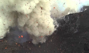 DJI Phantom Camera Drone Sent Flying Into The Mouth Of Active Volcano