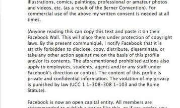 That Facebook Copyright Notice All Your Friends Are Posting Isn't Going To Protect Your Photos