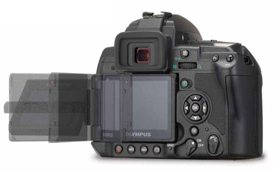 """""""The-Olympus-E-3-has-a-swiveling-LCD-a-rarity-in"""""""