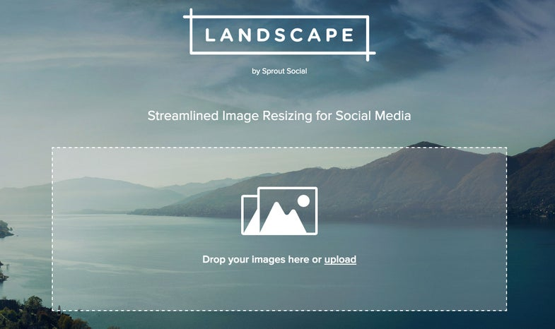Sprout Social Landscape Web Tool For Resizing Instagram and Facebook Photos