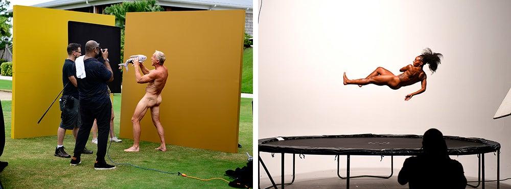 athletes posing naked for ESPN body issue