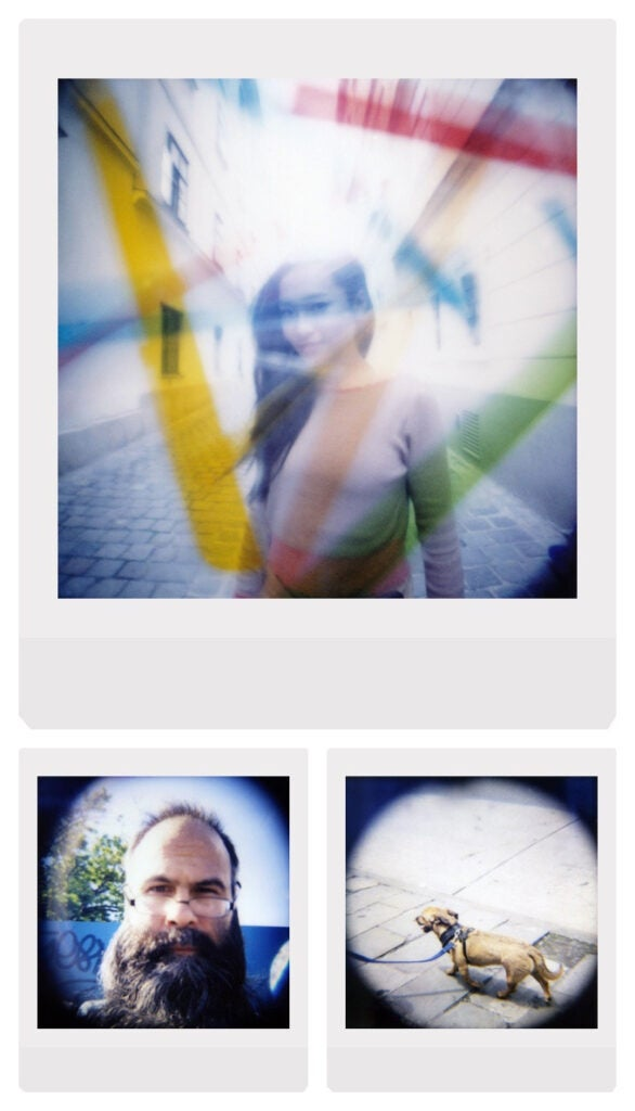 Sample images from the Diana Instant Square Camera
