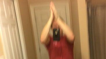 Self high five selfie social media trend