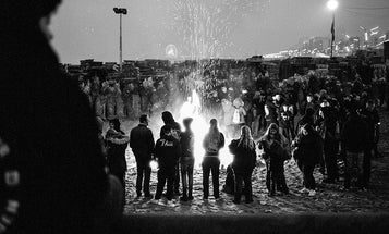 Documentary photos of the biggest bonfire you've probably never heard of