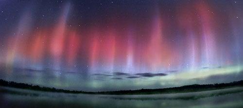 """Landscapes-After-Dark-Aurora-Borealis-over-Jasper"""