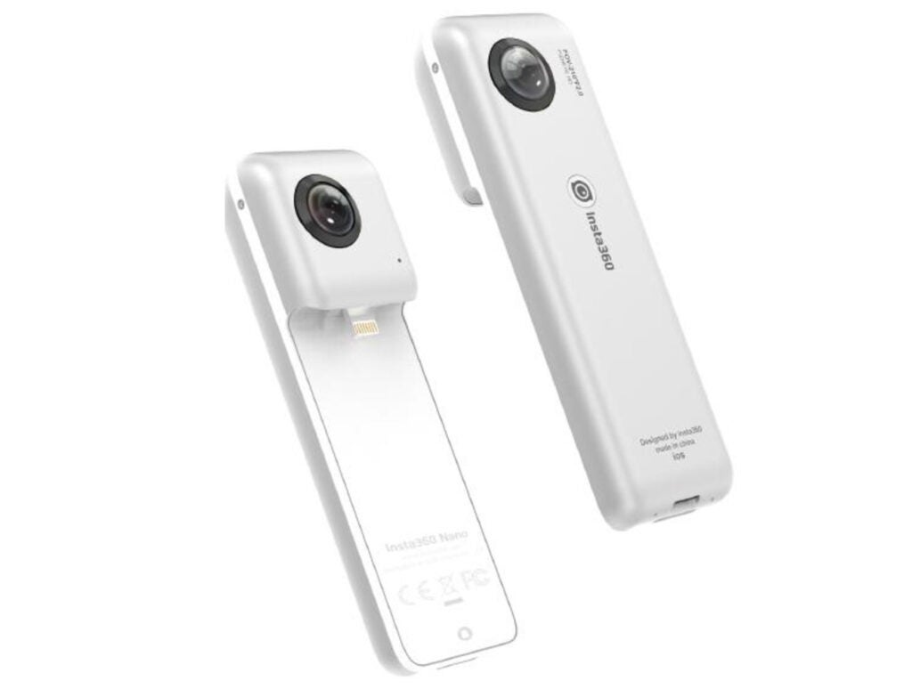 Insta360 Nano panoramic camera plugs into the iPhone