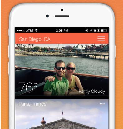 WeatherHop App Mixes Photos With Weather Forecast