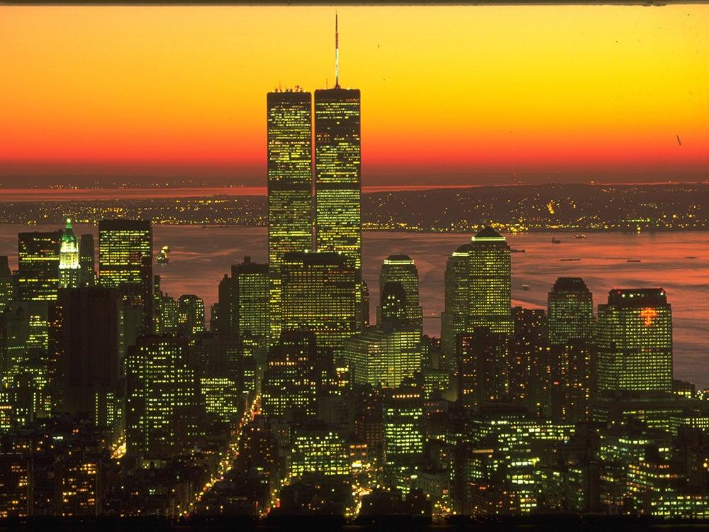 world trade center sunset