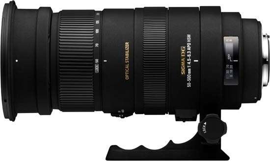 Sigma 50–500mm f/4.5–6.3 APO DG OS HSM