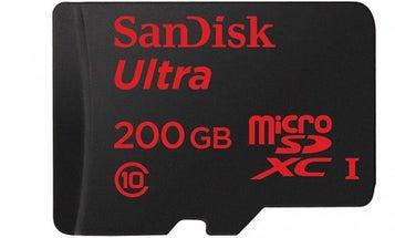 Sandisk's 200 GB MicroSD Card Is Tiny, Massive