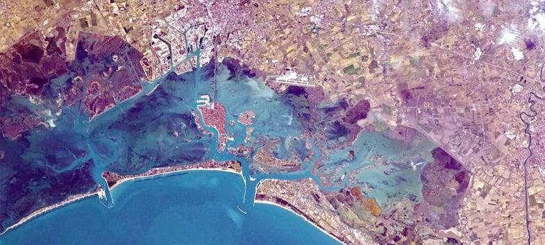 aerial photo of venice italy