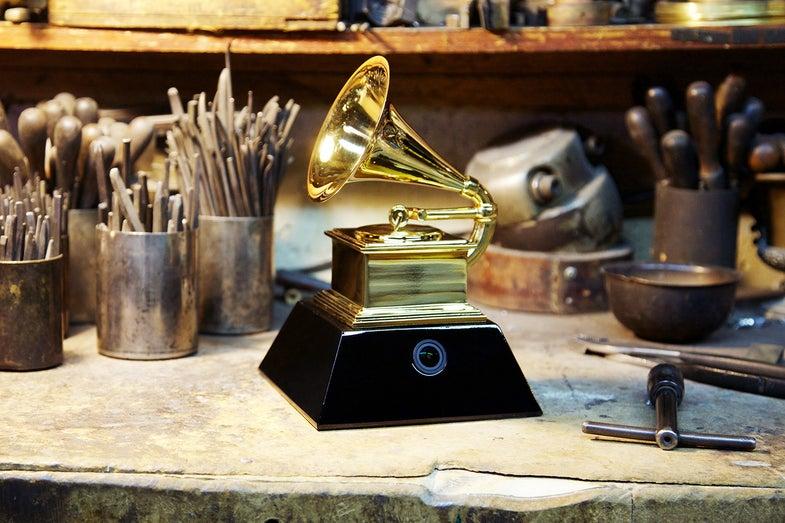 Grammy Awards Trophy Camera