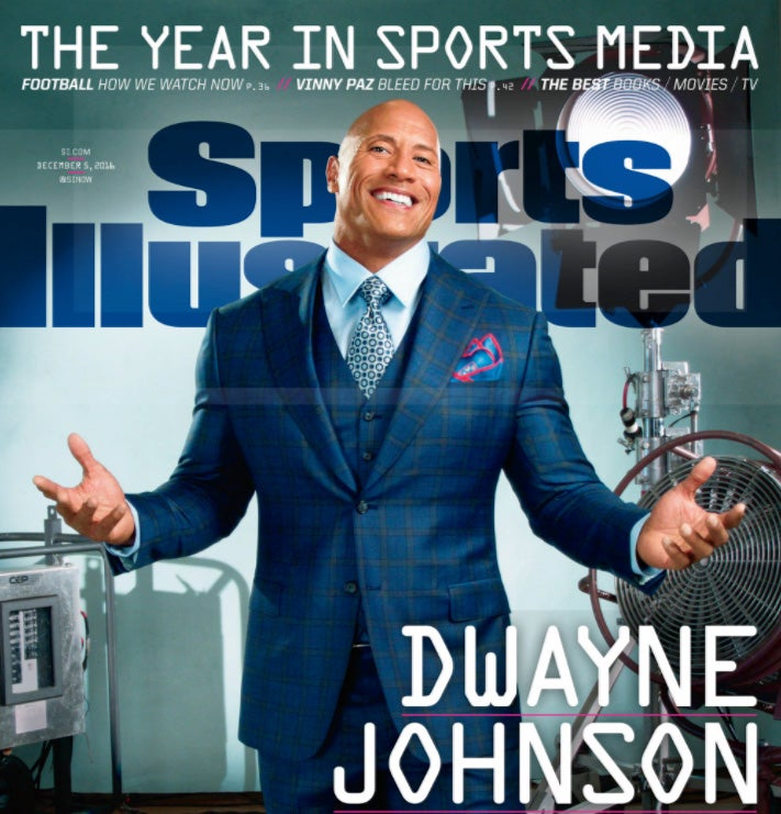 Sports Illustrated Duane Johnson Cover shot with a smartphone camera