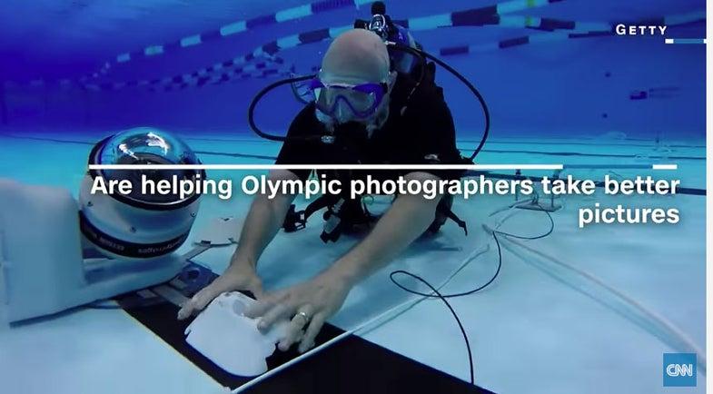 Getty Underwater Robot Camera Olympics