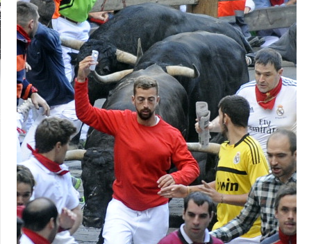 Running With the Bulls Selfie