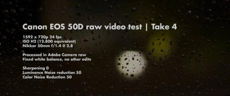 canon 50d video