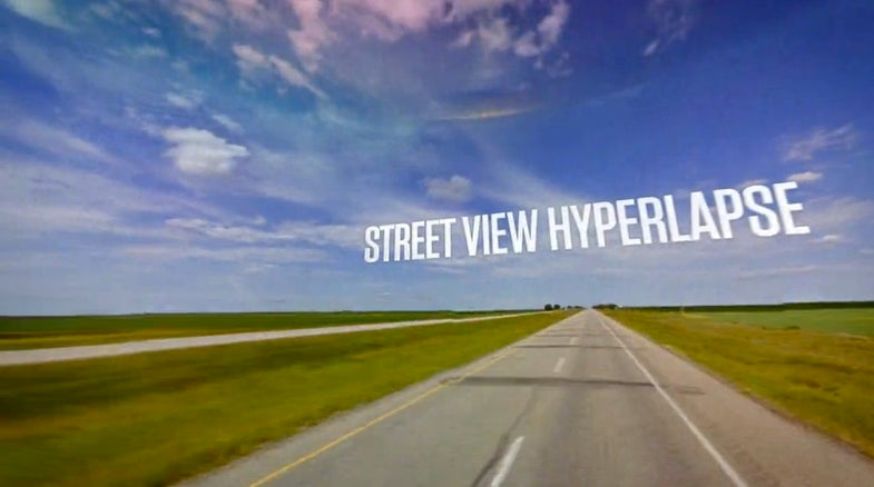 street view hyperlapse