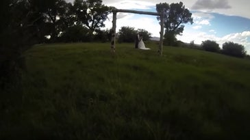 Drone Crash at wedding
