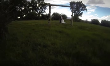 Groom's Camera Drone Smashes Guests In the Face at Wedding