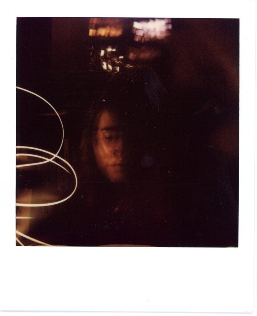 Polaroid Onestep+ sample dark double exposure