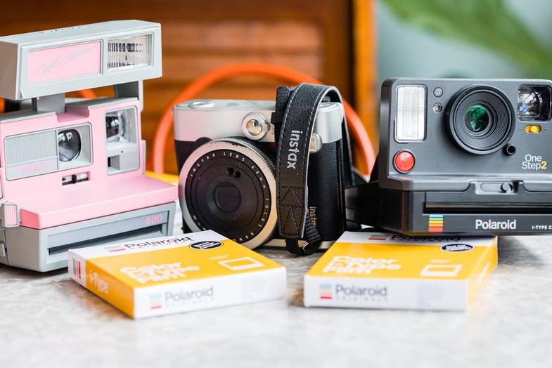 Instant film cameras