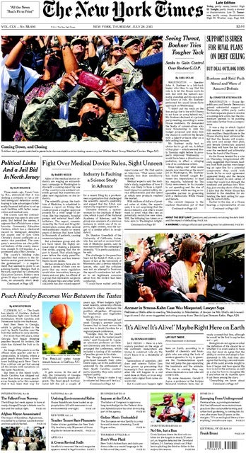 NY Front page