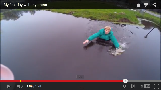 Video: Drone Almost Drowns