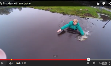 Watch a Rookie Drone Photographer Almost Drown His New Rig