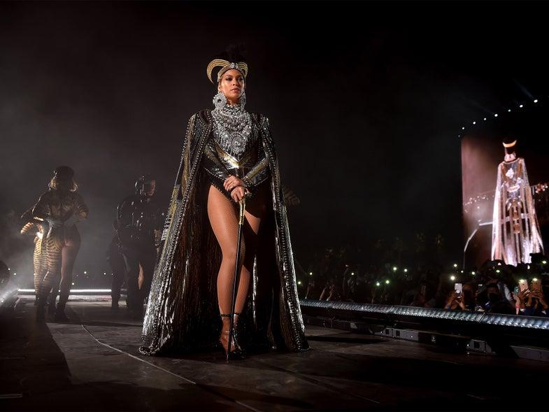 Beyonce performing at 2018 Coachella