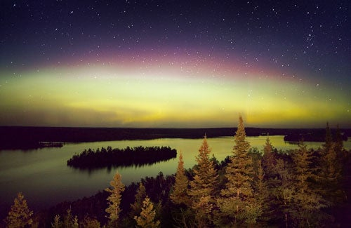 """Landscapes-After-Dark-Moose-Lake-Boundary-Water"""