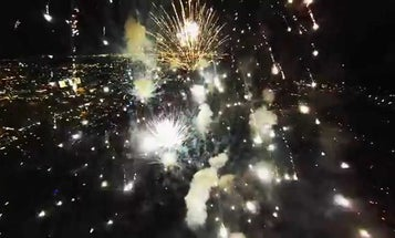 This Is What It Looks Like When You Fly a Drone With a Camera Through Fireworks