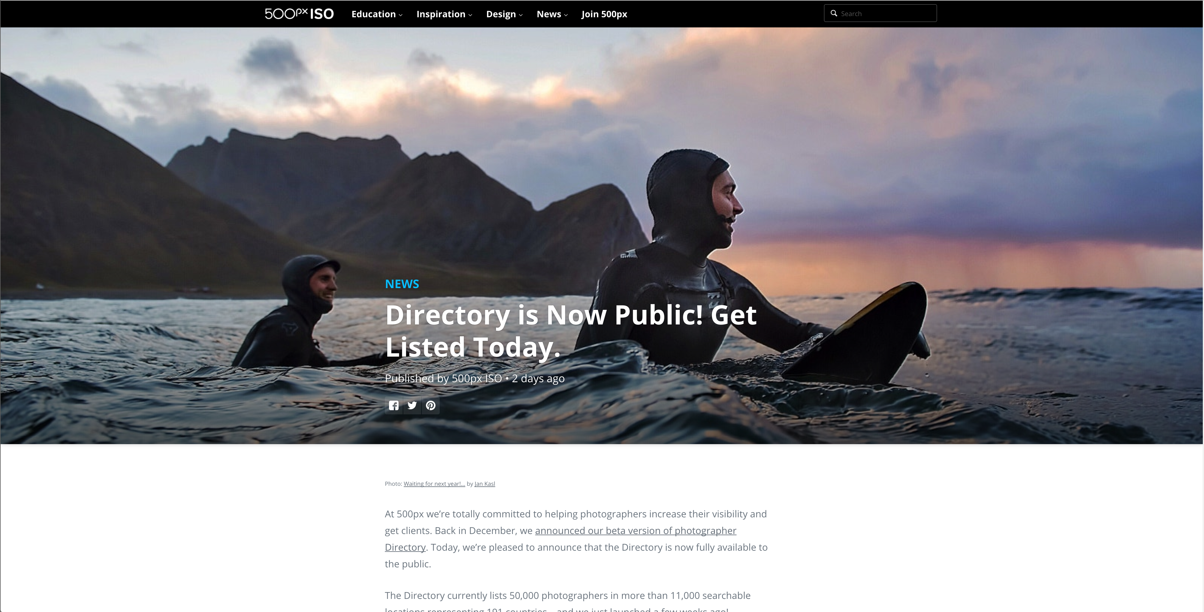 500px's new directory