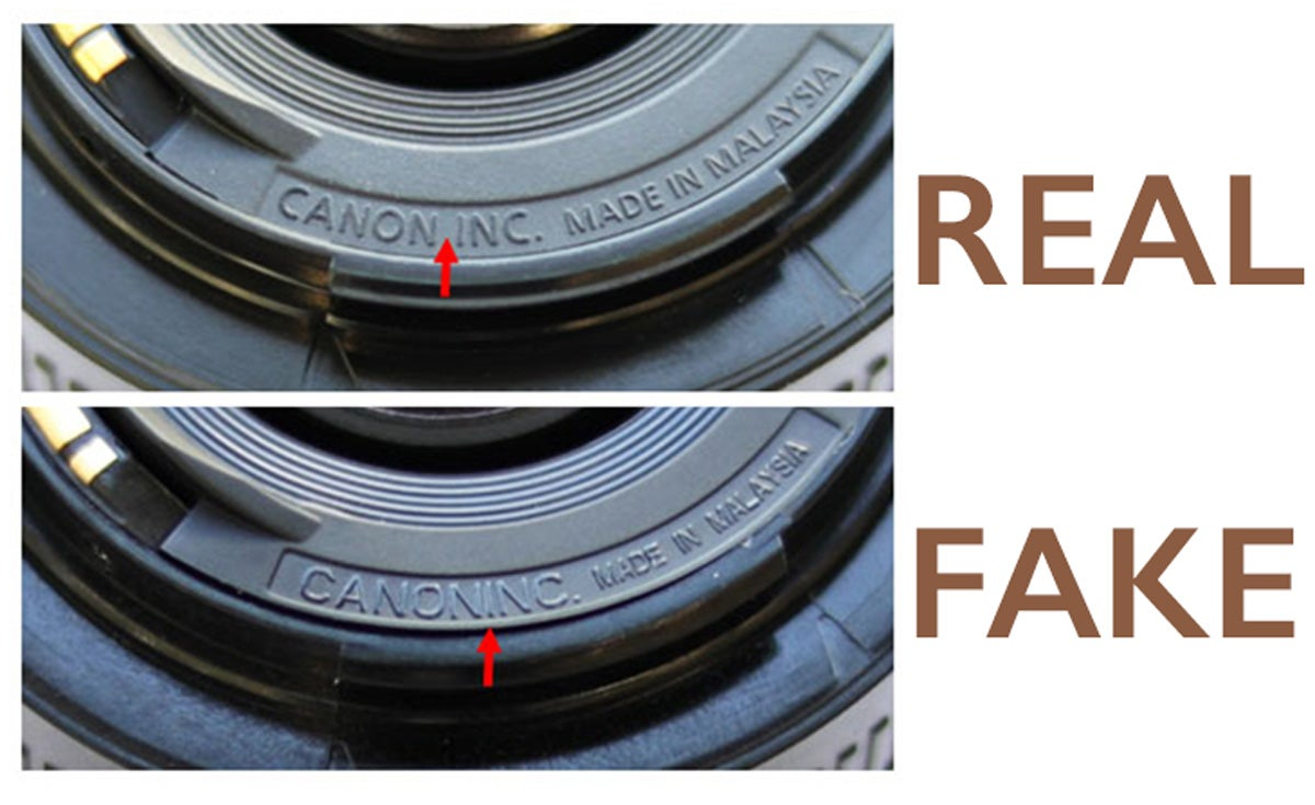 Fake canon 50mm lenses