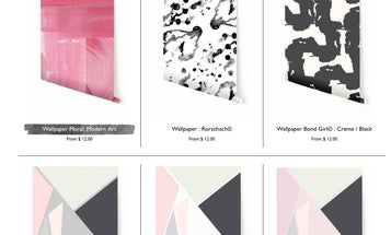 FYI: Drop It Modern Makes Wallpaper in the Same Patterns as Its Backdrops