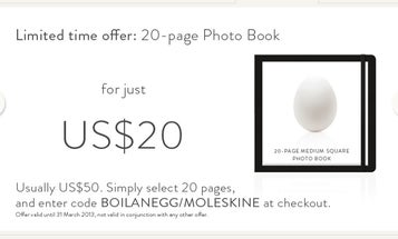 """Try Out Moleskine's New """"Image Autofill"""" Tool, And Get a Photobook For Just $20"""