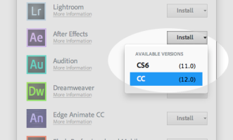 New Adobe Creative Cloud Feature Lets You Install Old Versions