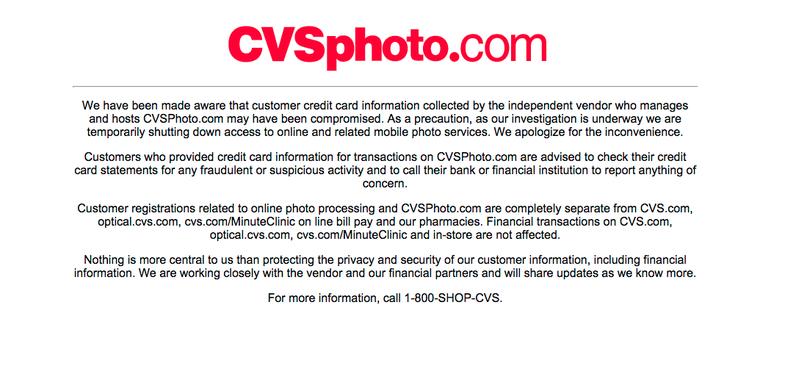 CVSPhoto.com hacked