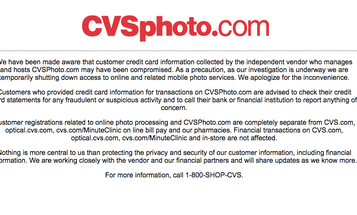 CVS Shuts Down Photo Printing Site After Customer Credit Card Info Is Compromised