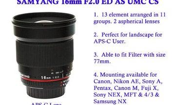 New Gear: Samyang APS-C 16mm f/2 Lens