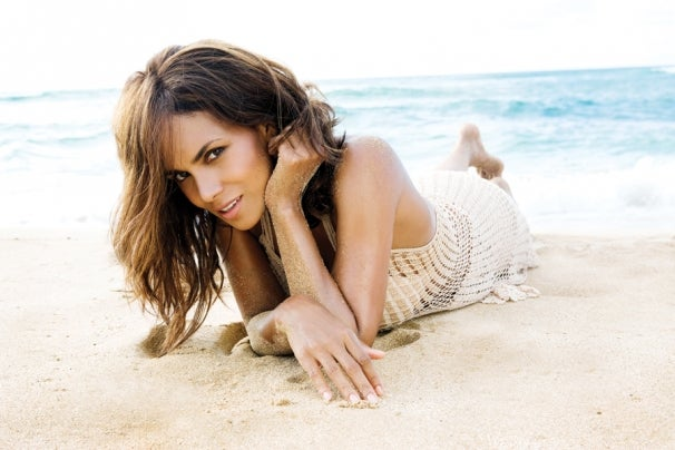 Halle Berry on the beach