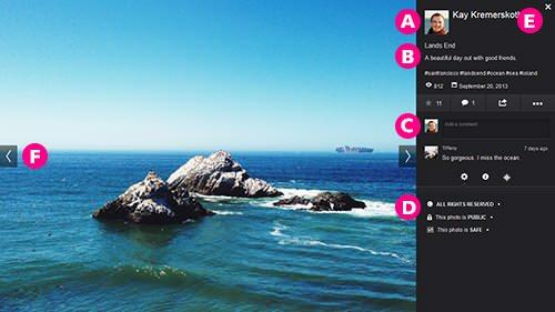 flickr beta layout